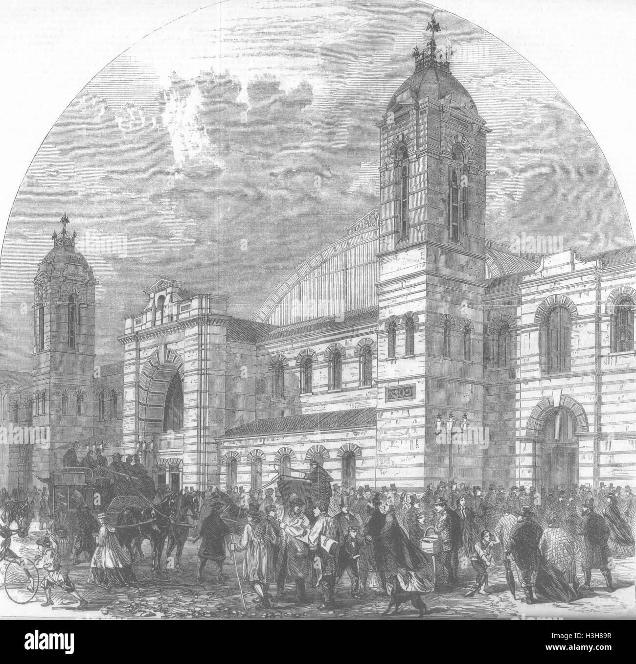 LONDON Smithfield Cattle Show, Islington 1862. Illustrated Times - Stock Image