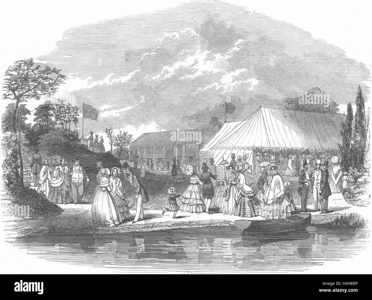 LONDON Royal Botanic Society Garden, Regent's Park 1847. Illustrated London News - Stock Image