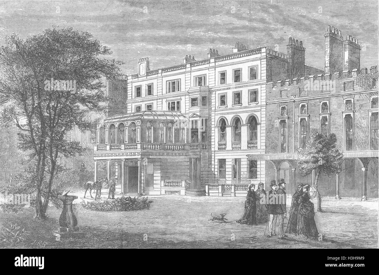 LONDON Clarence House 1874. The Graphic Stock Photo