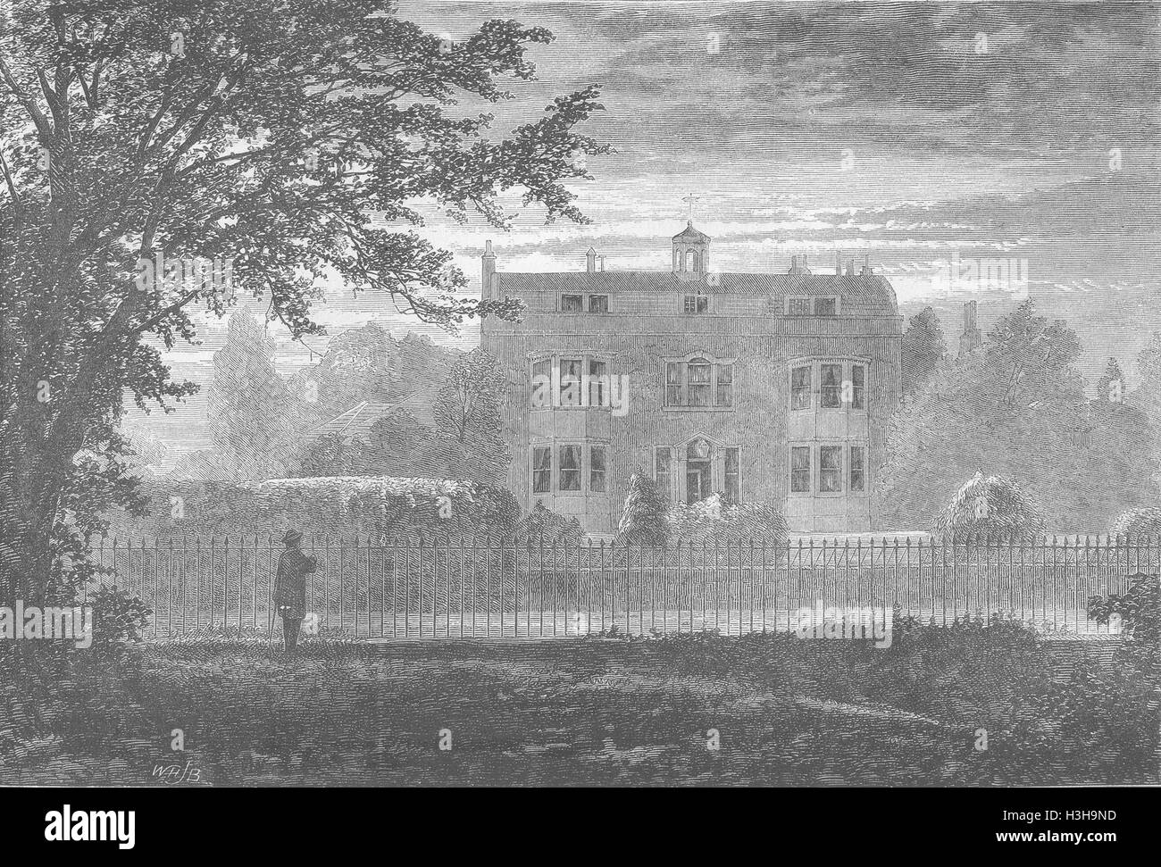 KENT Charles Dickenss House, Gad's Hill 1870. The Graphic - Stock Image