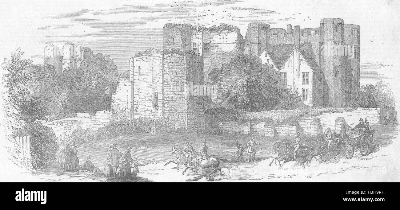 WARCS Kenilworth Castle Royals 1858. Illustrated Times - Stock Image