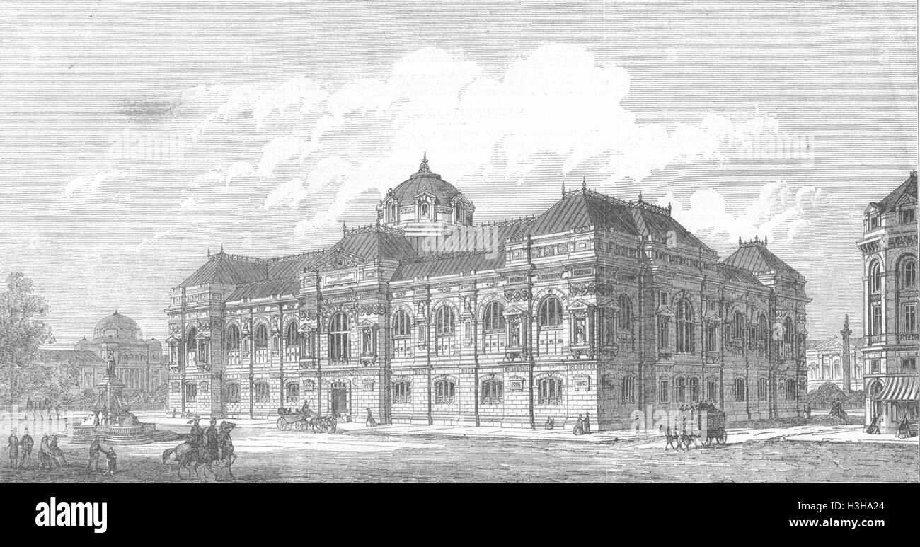 LONDON Prize design, Natural History Museum 1865. Illustrated London News - Stock Image