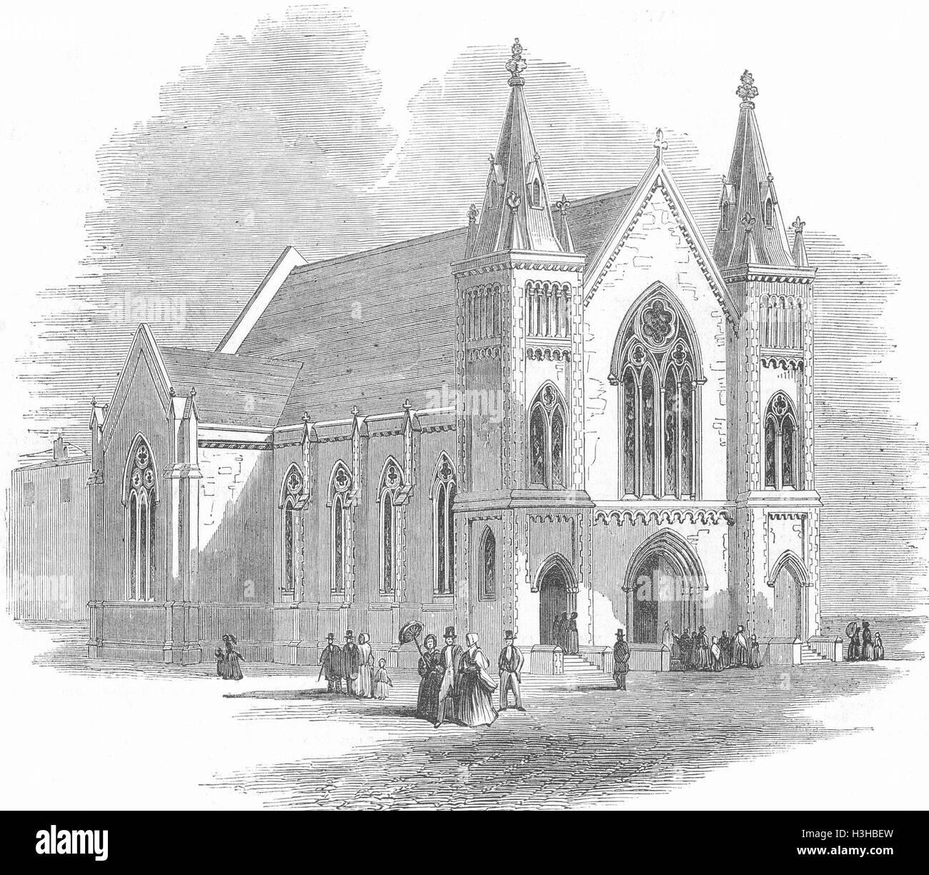 NOTTING HILL Horbury Chapel 1849. Illustrated London News - Stock Image