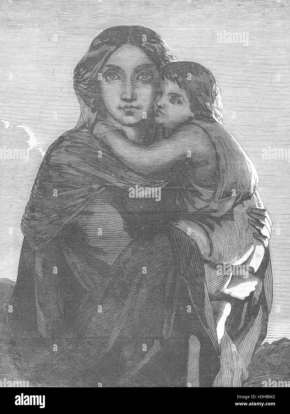 PORTRAITS Lady and child 1852. Illustrated London News - Stock Image