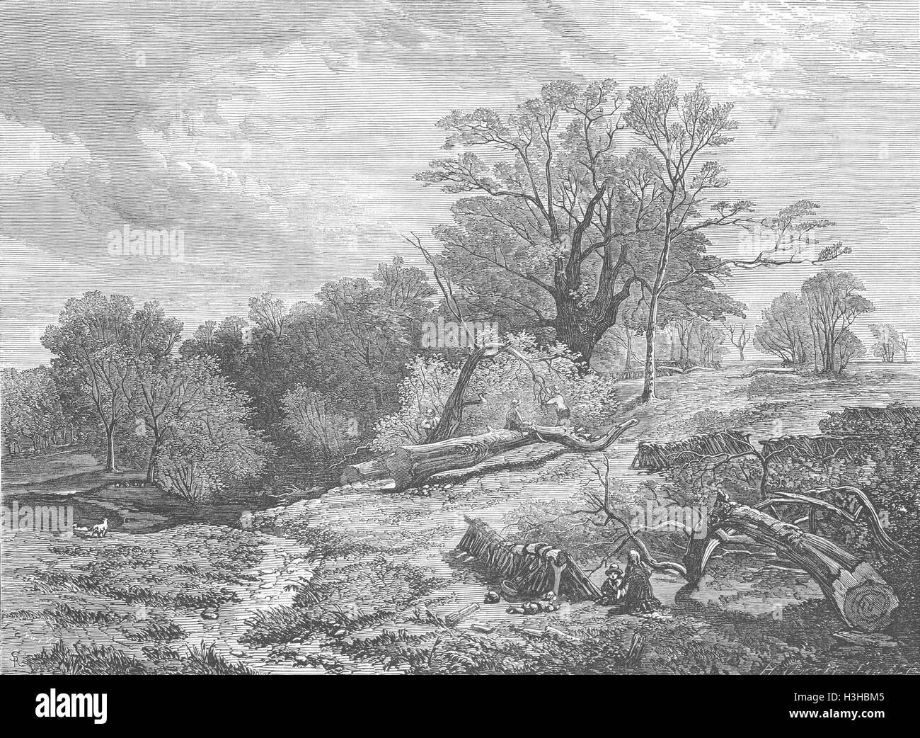 LANDSCAPES Spring 1852. Illustrated London News - Stock Image