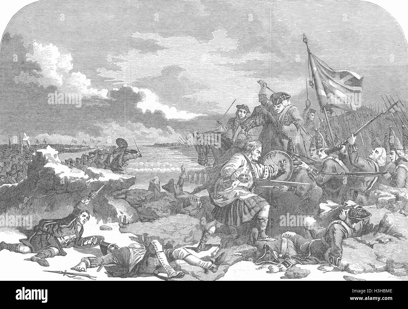 SCOTLAND National Inst Culloden 1853. Illustrated London News - Stock Image