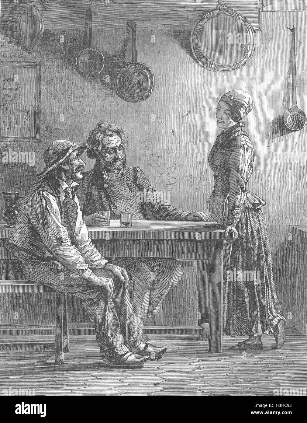 POLITICS Socialists 1850. Illustrated London News - Stock Image