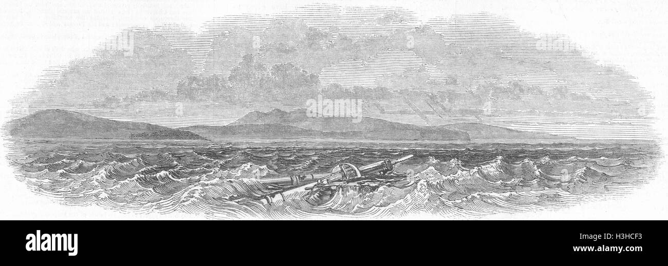 TUNISIA North Coast of Africa, between Tunis & Bona 1848. Illustrated London News - Stock Image