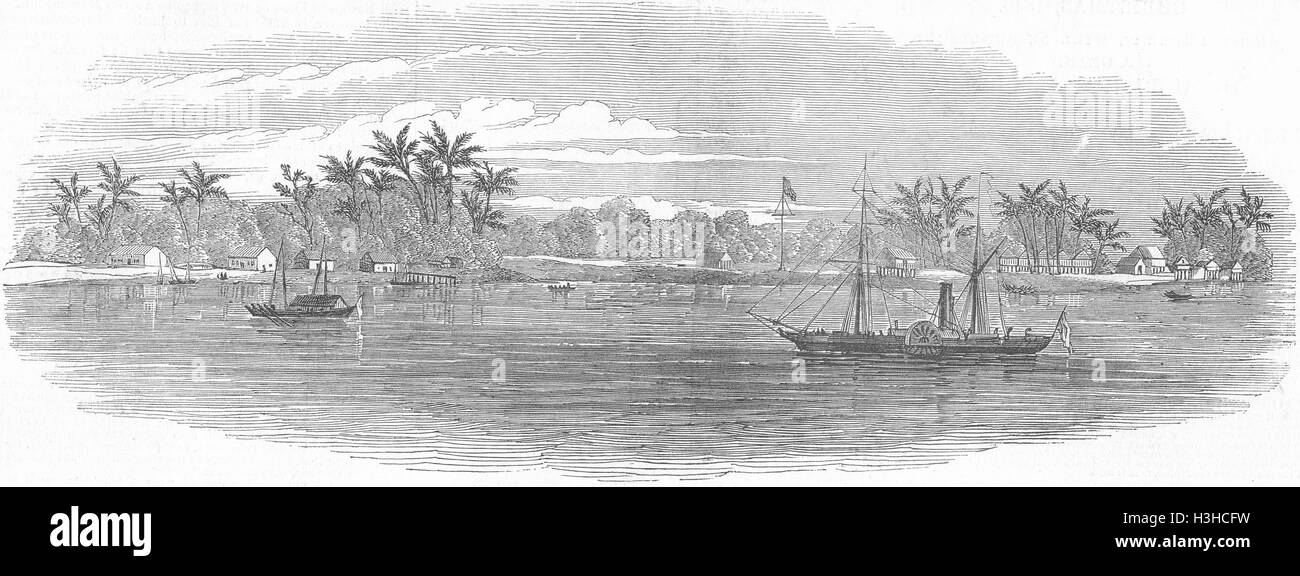 MALAYSIA New colony of Labuan 1848. Illustrated London News - Stock Image