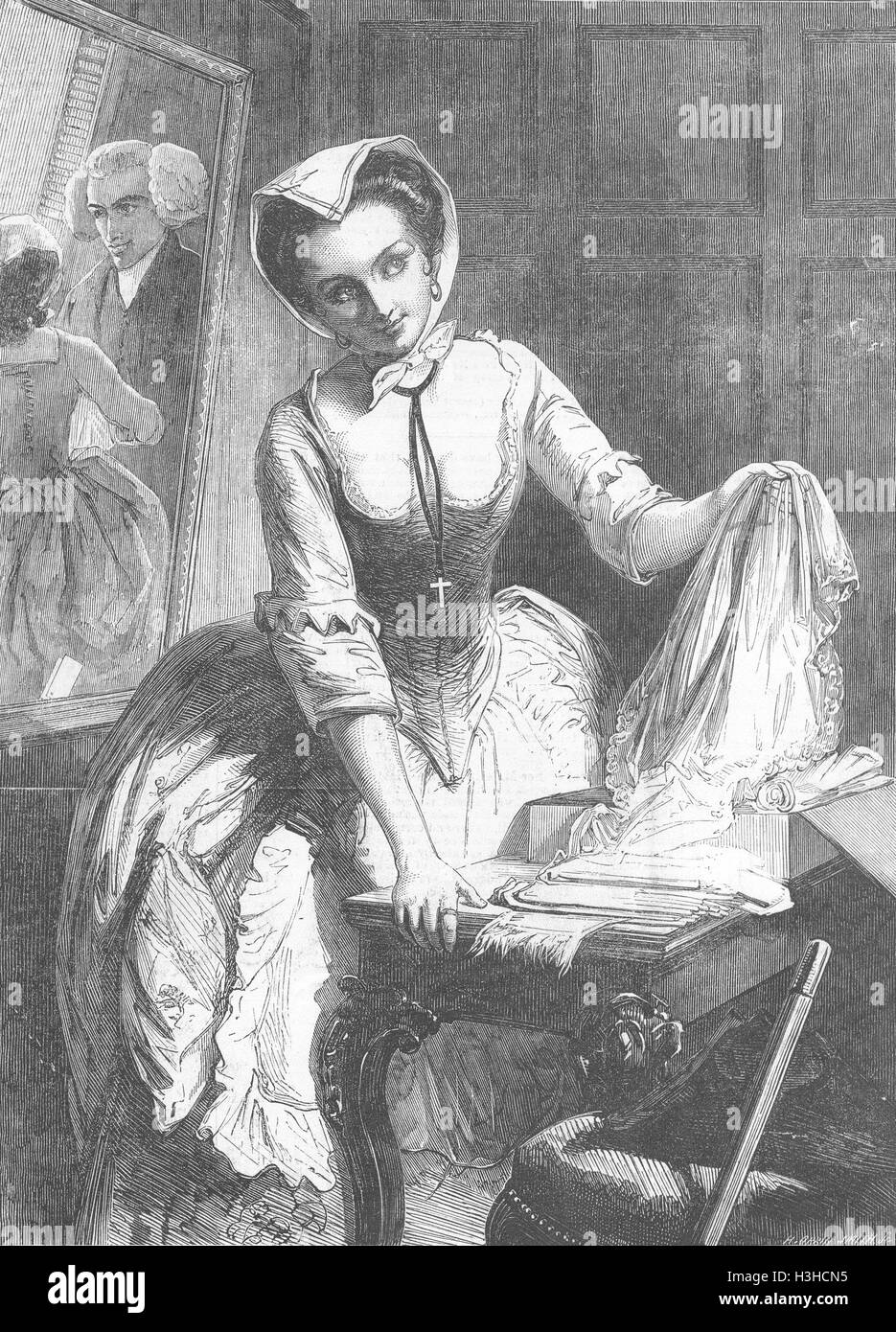PRETTY LADIES The Grisette 1852. Illustrated London News - Stock Image