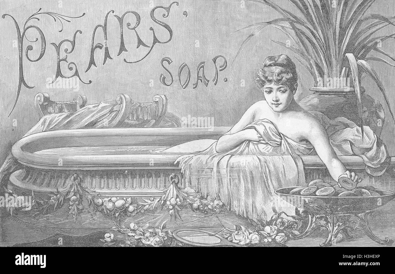 ADVERTS Pears soap matchless for hand & complexion 1886. The Graphic - Stock Image