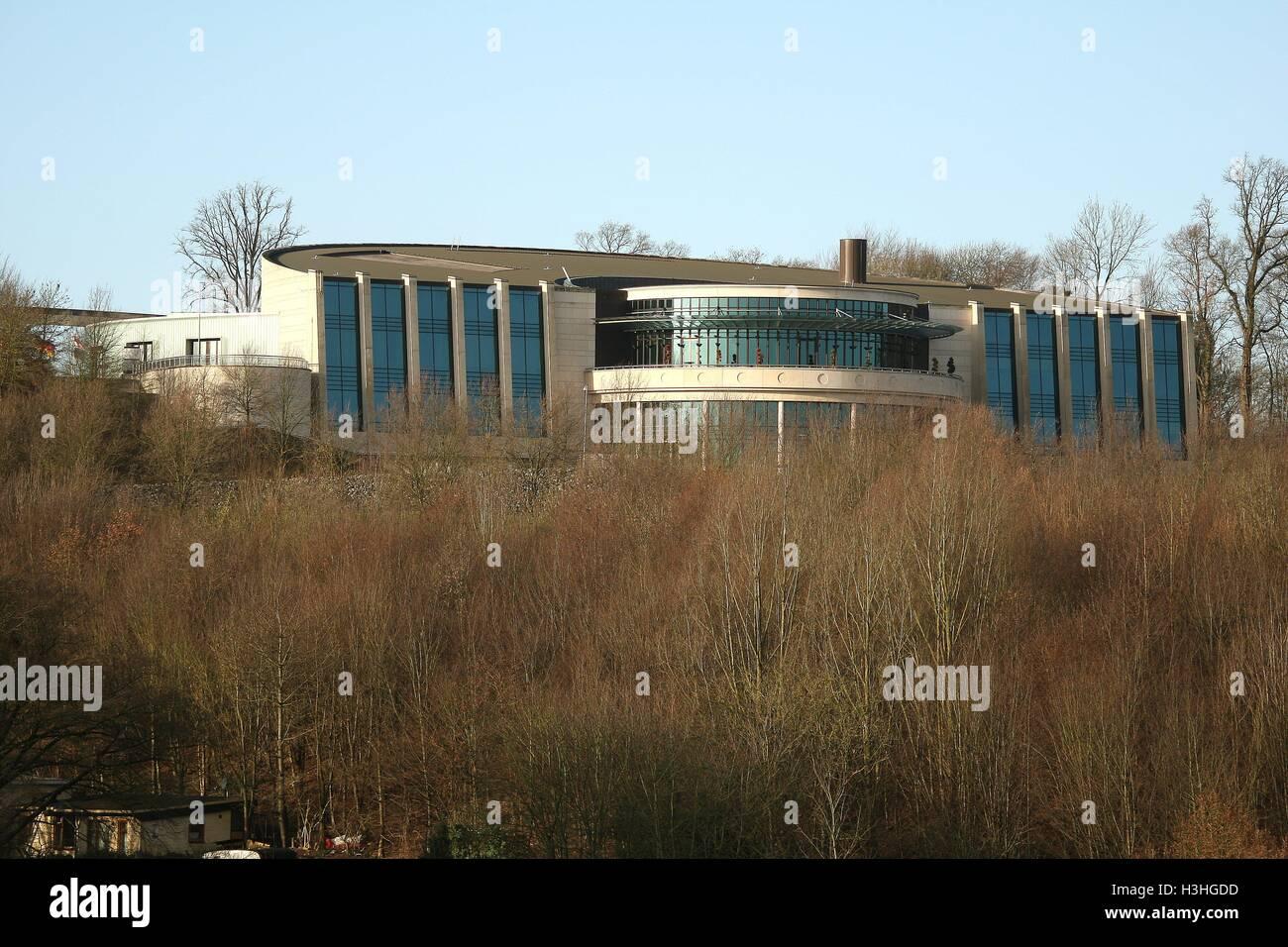 Holland Casino building on Cauberg in the market city of Valkenburg South Holland Limburg Netherlands NL 2016 - Stock Image