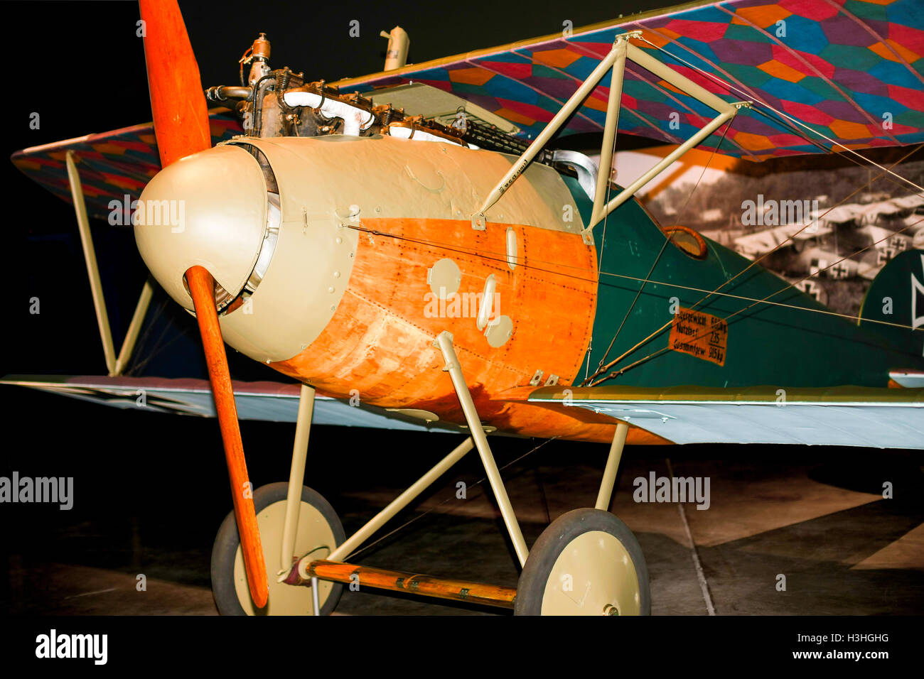German fighter plane, Albatros, from World War One Stock Photo