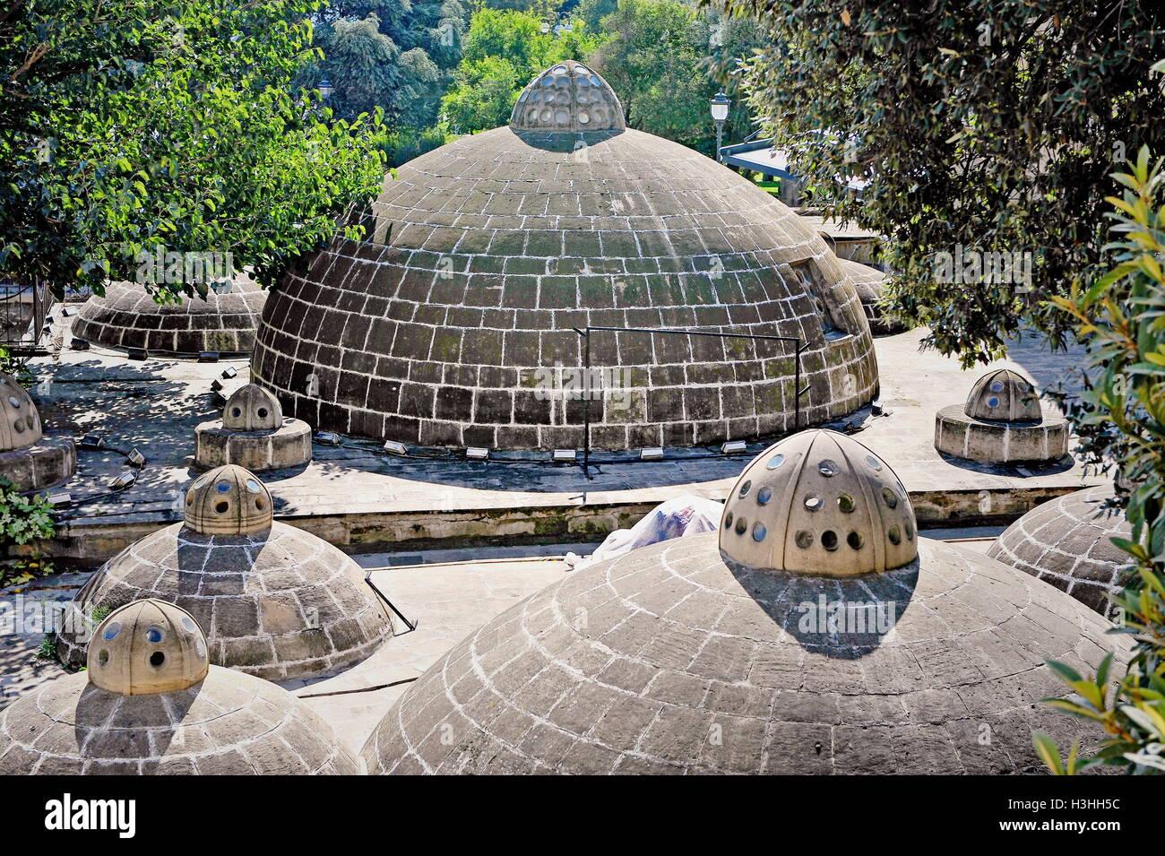Sulfur baths of Baku old town, Azerbaijan - Stock Image