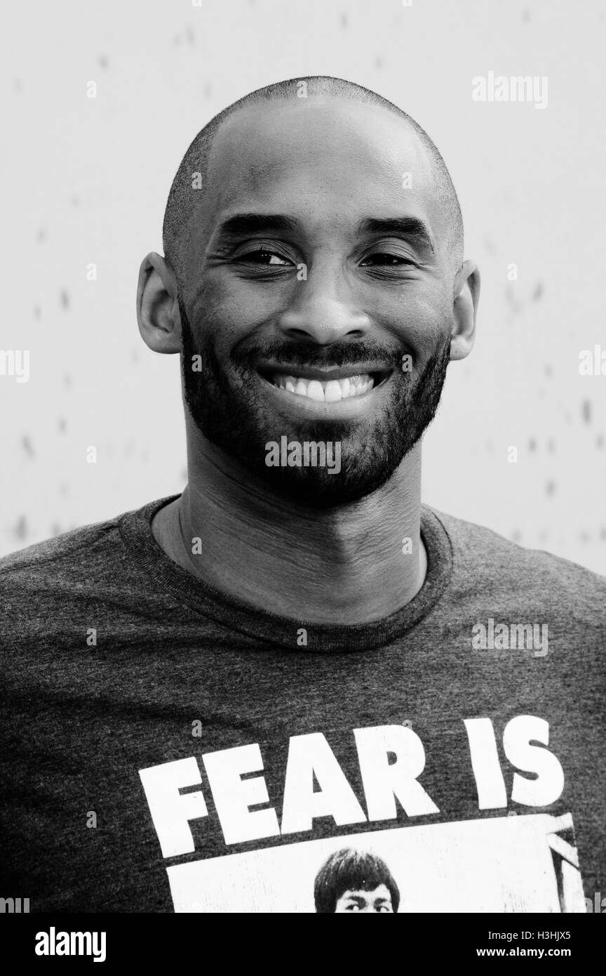 Kobe Bryant Black And White Stock Photos Images Alamy