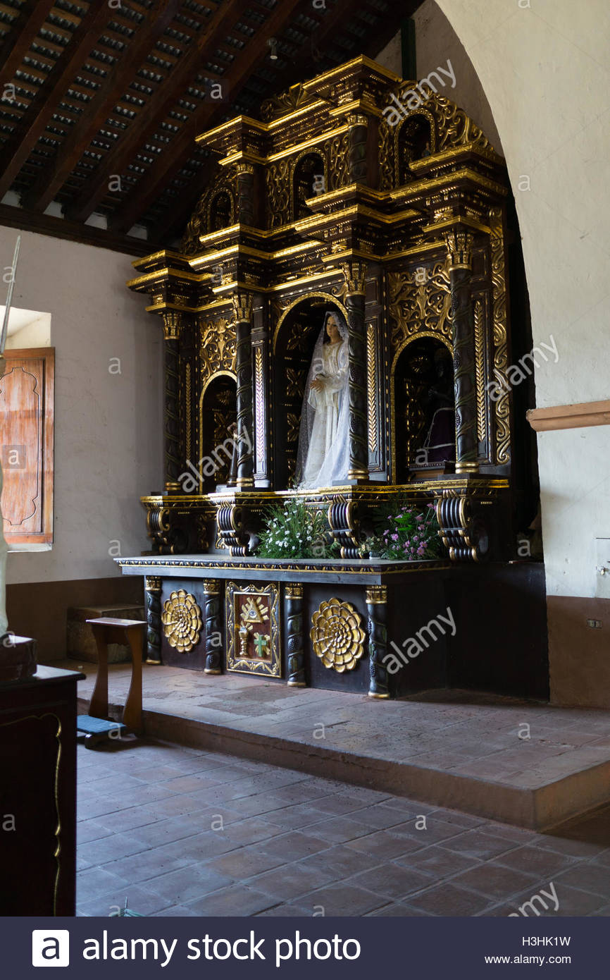 In Church of Subtiava, Leon, Nicaragua. - Stock Image