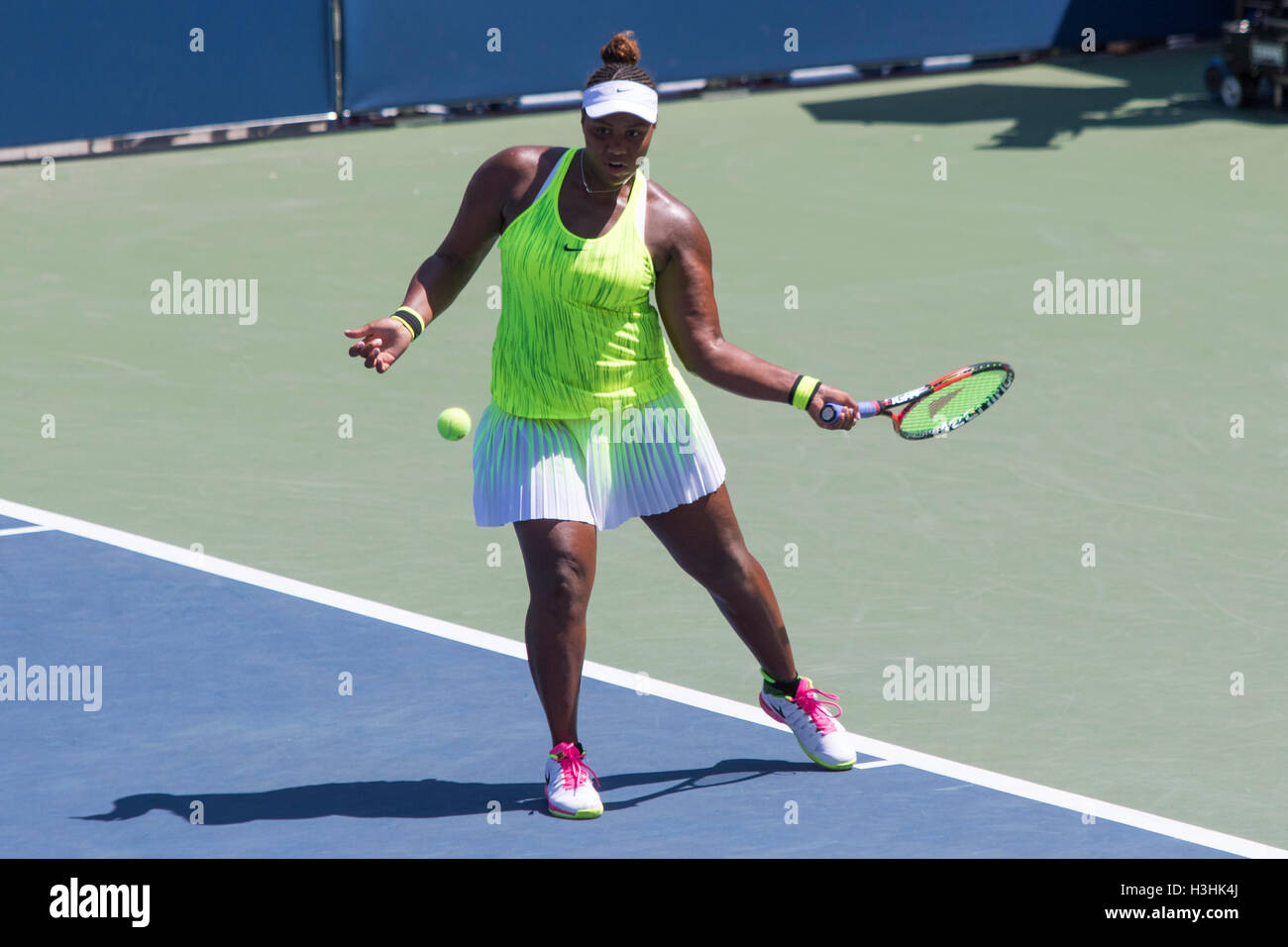 Taylor Townsend (USA) competing in the 2016 US Open - Stock Image