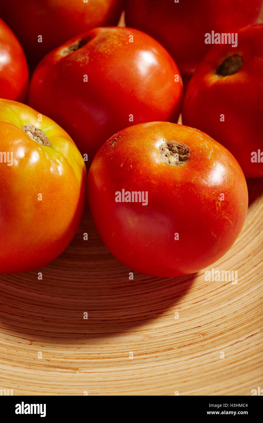 ripe beefsteak tomatoes - Stock Image