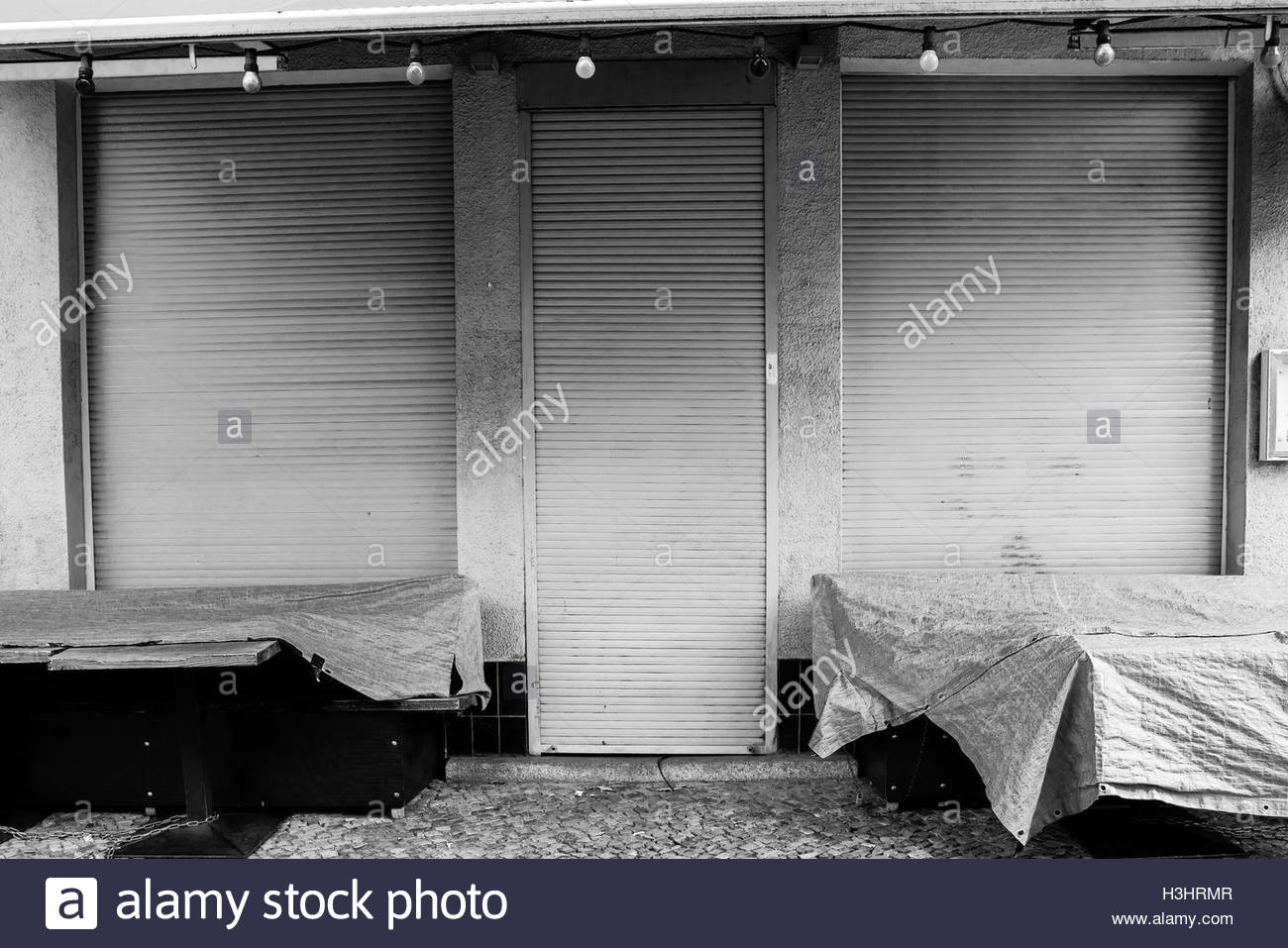 Aabandoned business conceptual photography closed down shop city business abstract depression,loneliness,sadness - Stock Image