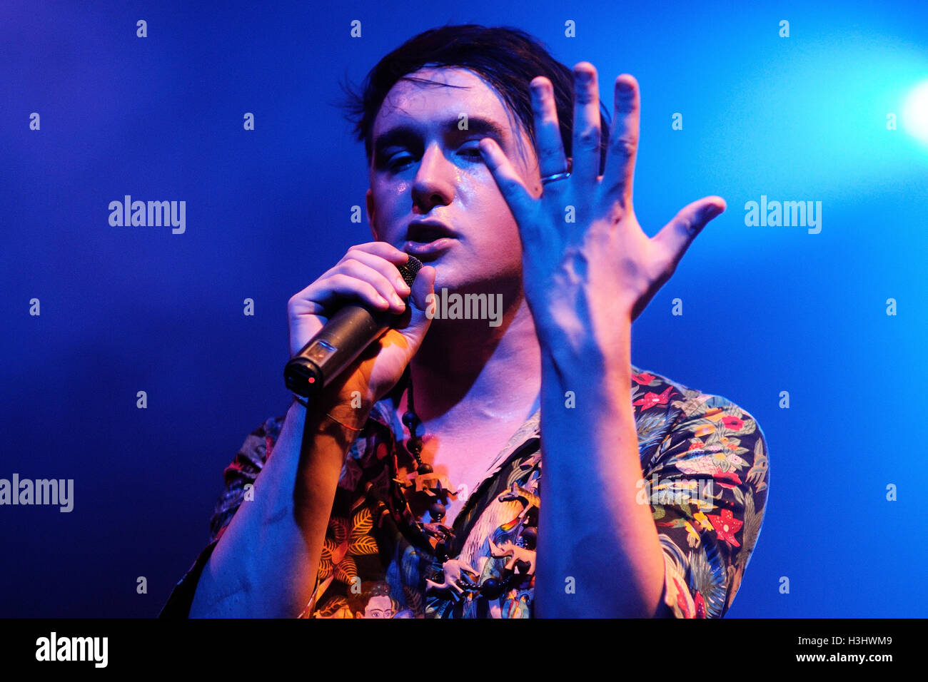 BARCELONA - OCT 14: Patrick Wolf (singer from London) performs at Apolo on October 14, 2011 in Barcelona, Spain. - Stock Image