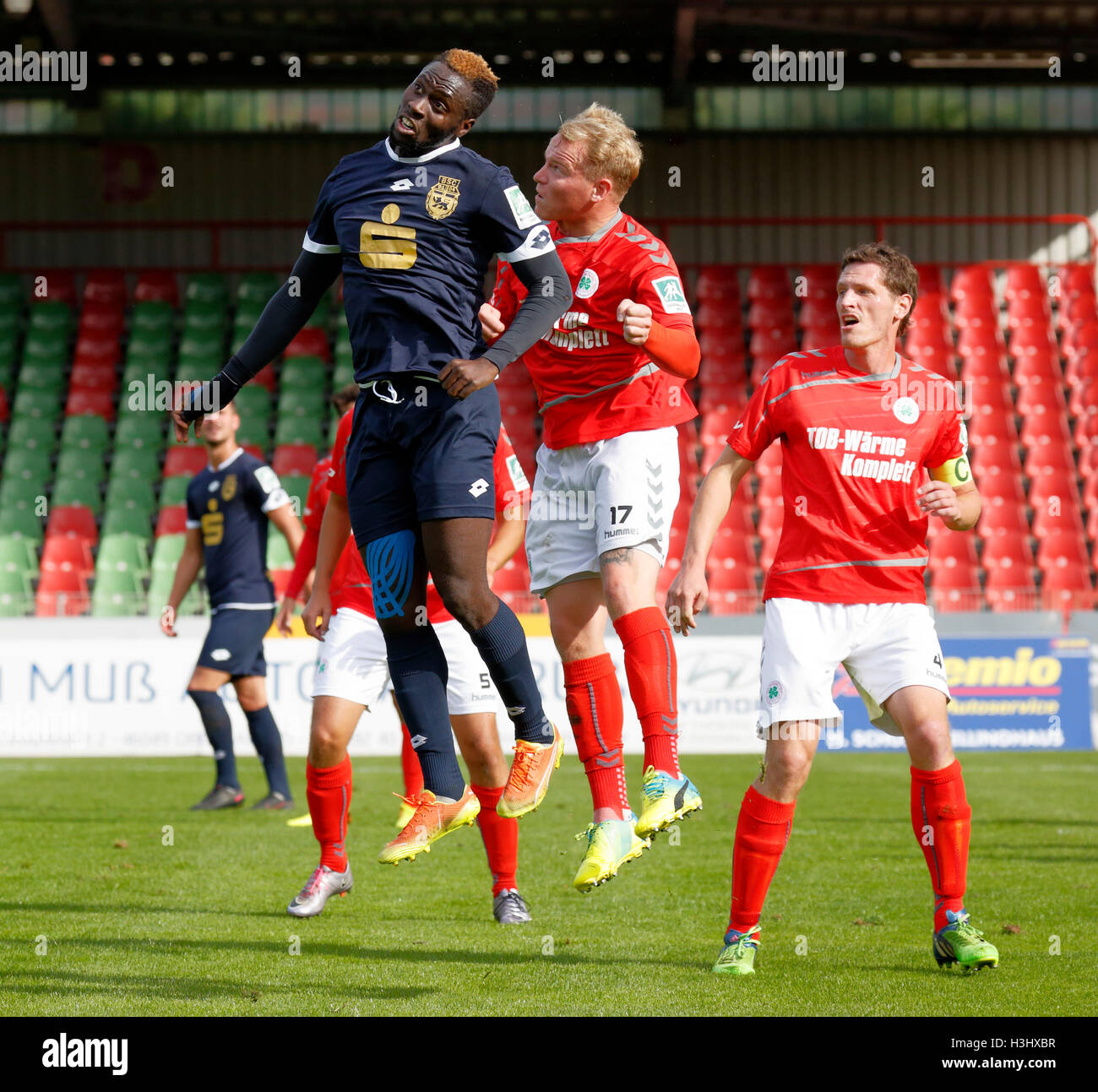 sports, football, Regional League West, 2016/2017, Rot Weiss Oberhausen versus Bonner SC 5:1, Stadium Niederrhein - Stock Image