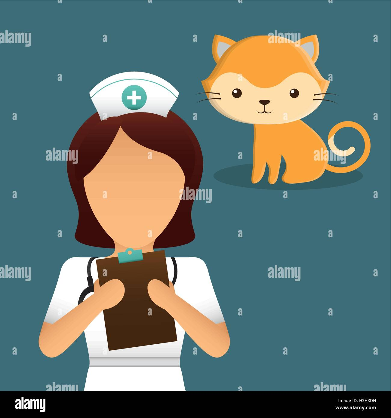 pet care center service icons - Stock Vector