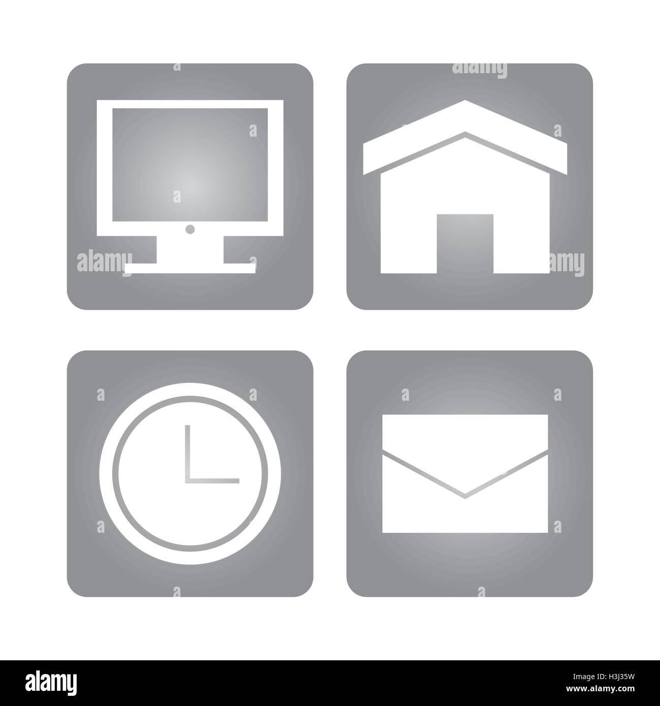 Apps Inside Frames And Social Media Design Stock Vector Image Art Alamy