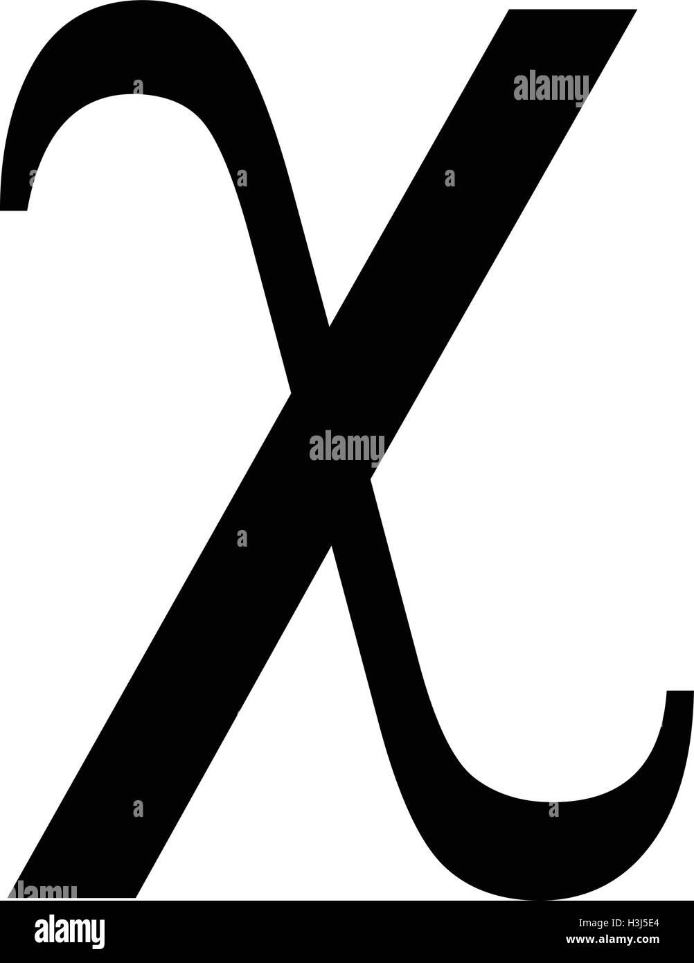 Chi greek letter icon chi symbol vector illustration stock vector chi greek letter icon chi symbol vector illustration biocorpaavc Gallery