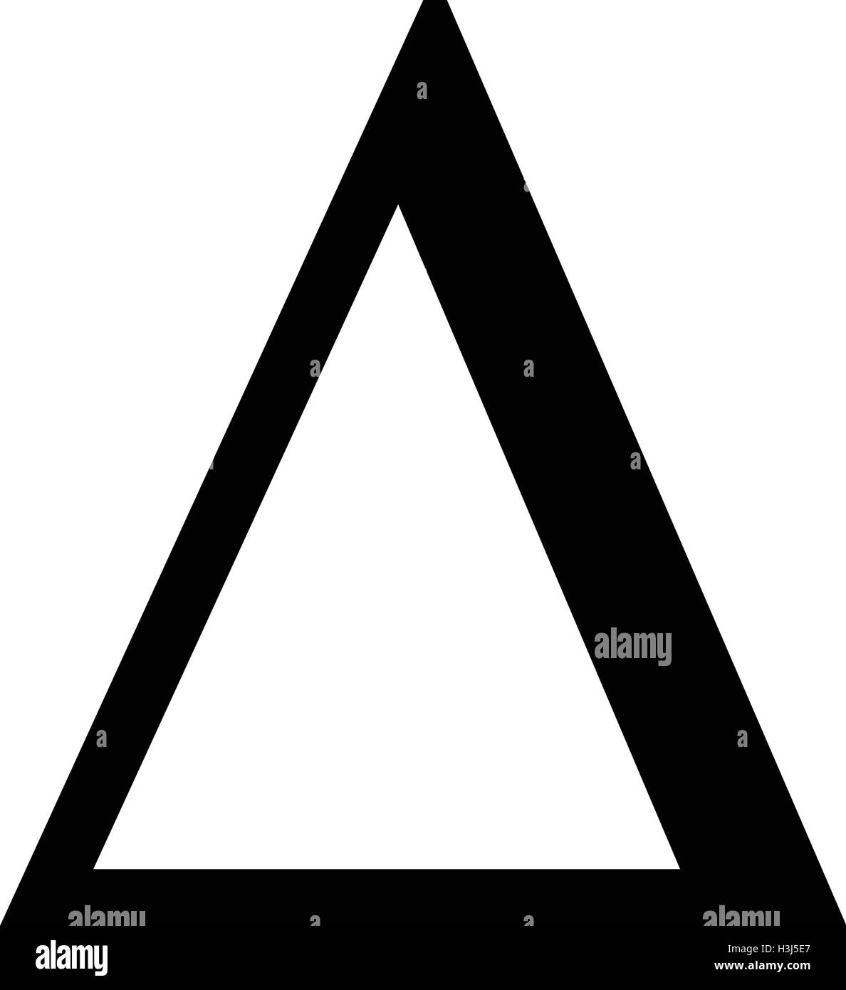 Delta Greek Letter Icon Delta Symbol Vector Illustration Stock