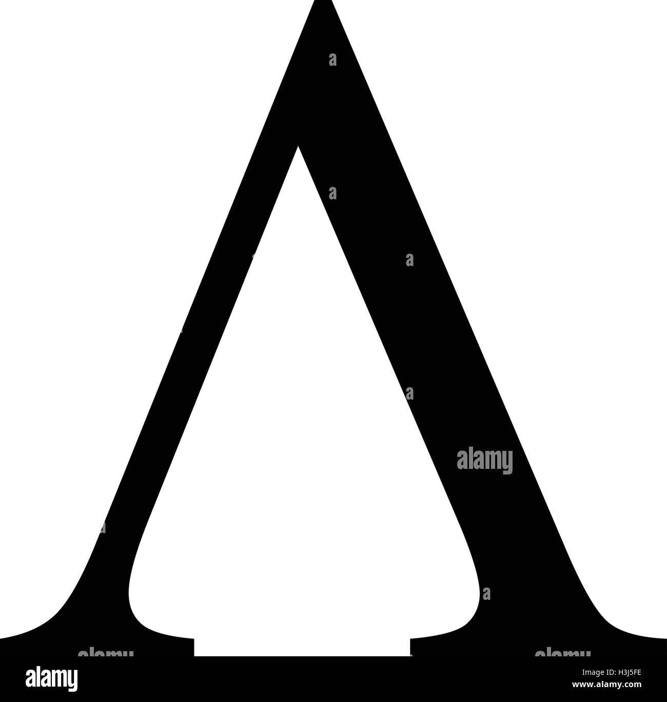Greek Alphabet Vector Uppercase Lowercase Stock Photos Greek