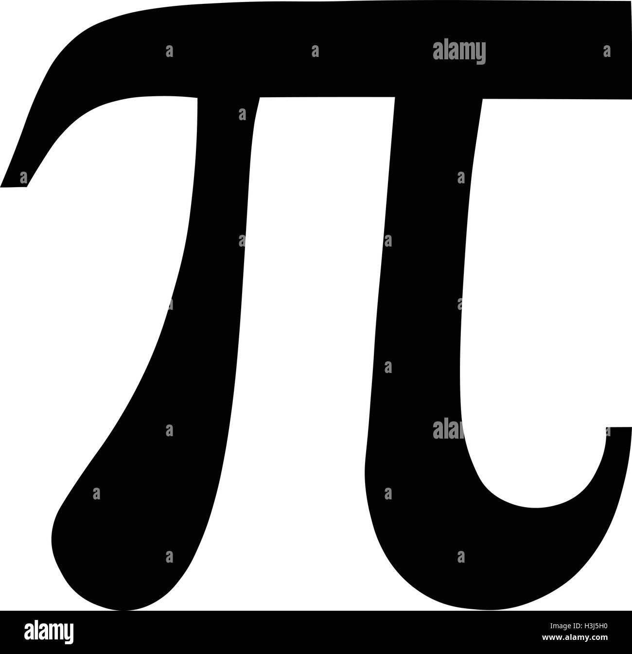 Pi Greek Letter Pi Symbol Isolated Vector Illustration Stock Vector