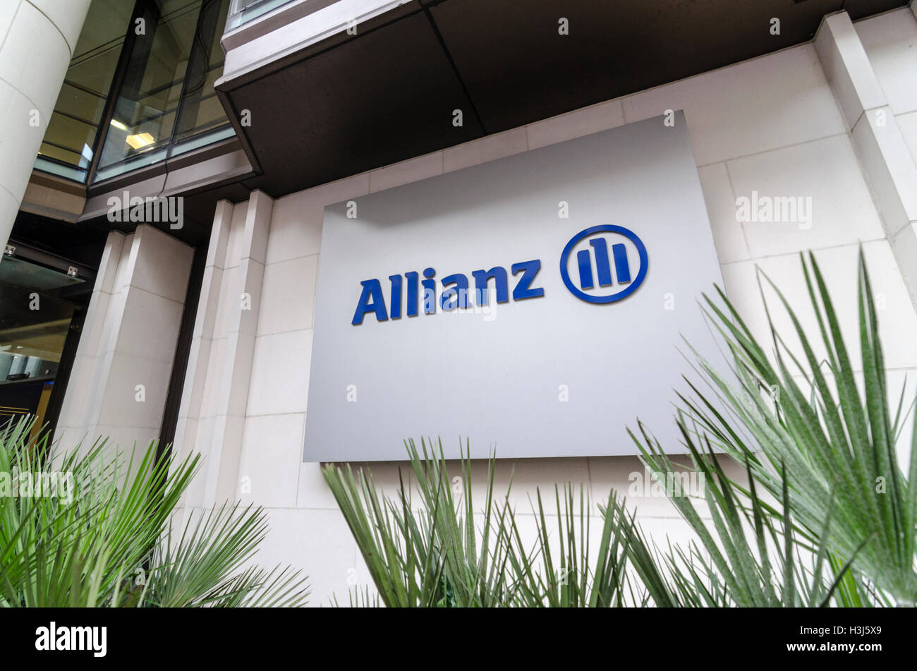 Allianz offices in the City of London, UK - Stock Image