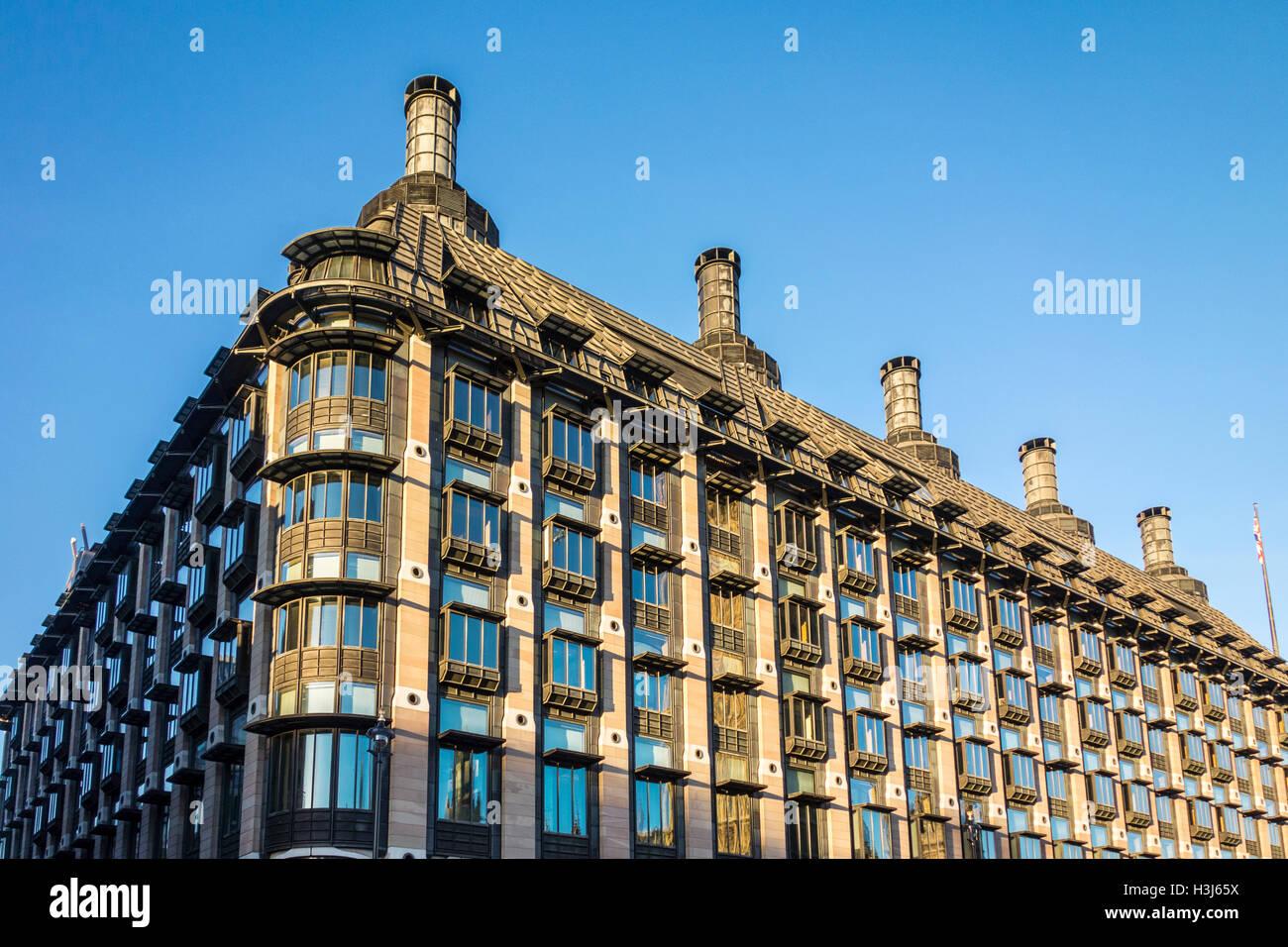 Portcullis House, UK government building. London, UK - Stock Image