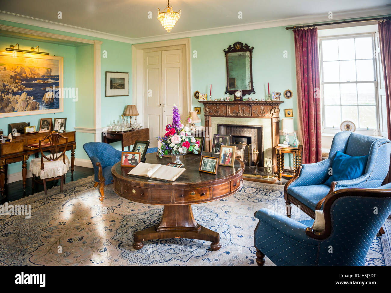 A sitting room in Skaill House on Mainland Orkney, Scotland, UK - Stock Image