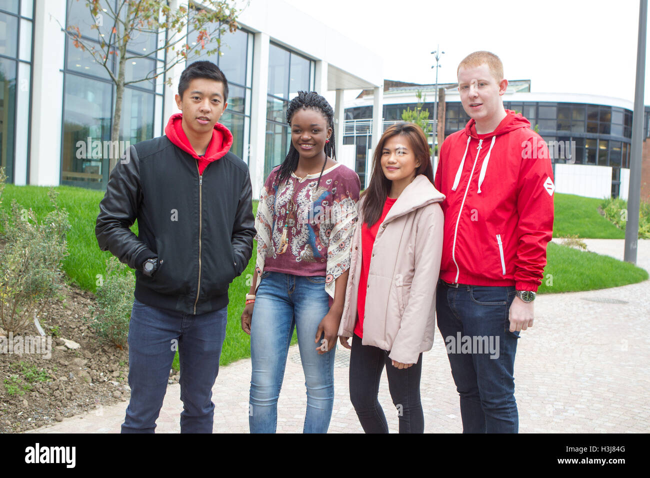 Diverse ethnic mix of young people - Stock Image