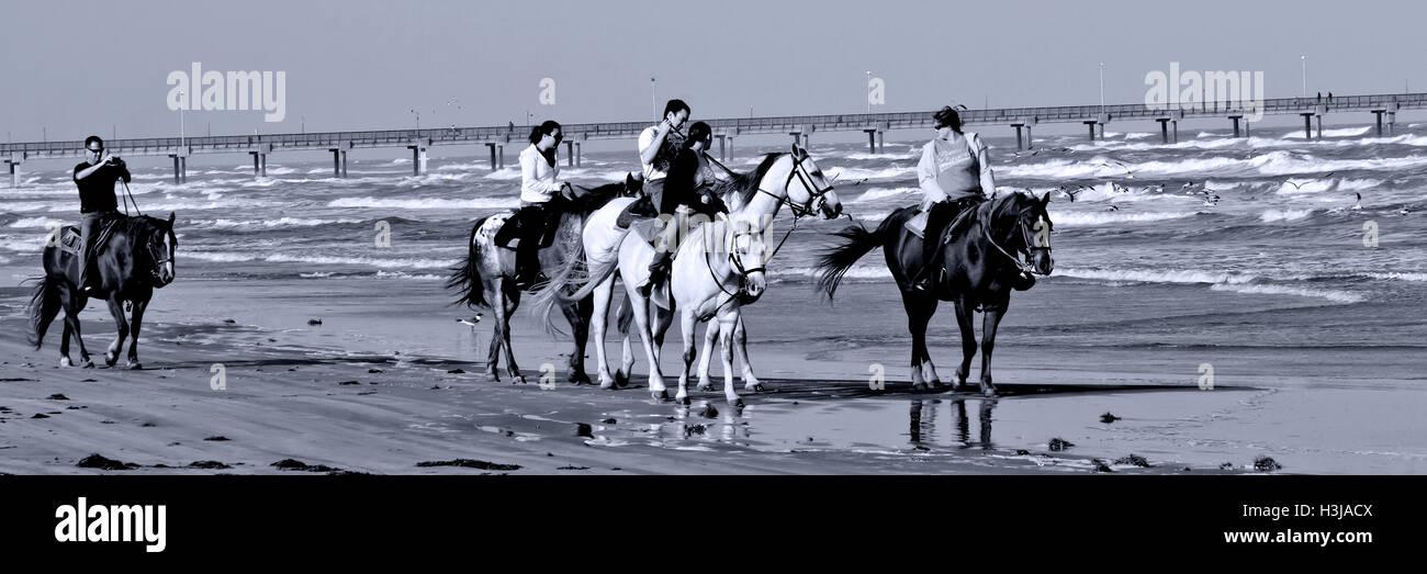 Horseback Riding On The Beach Near Port Aransas Beach Tx