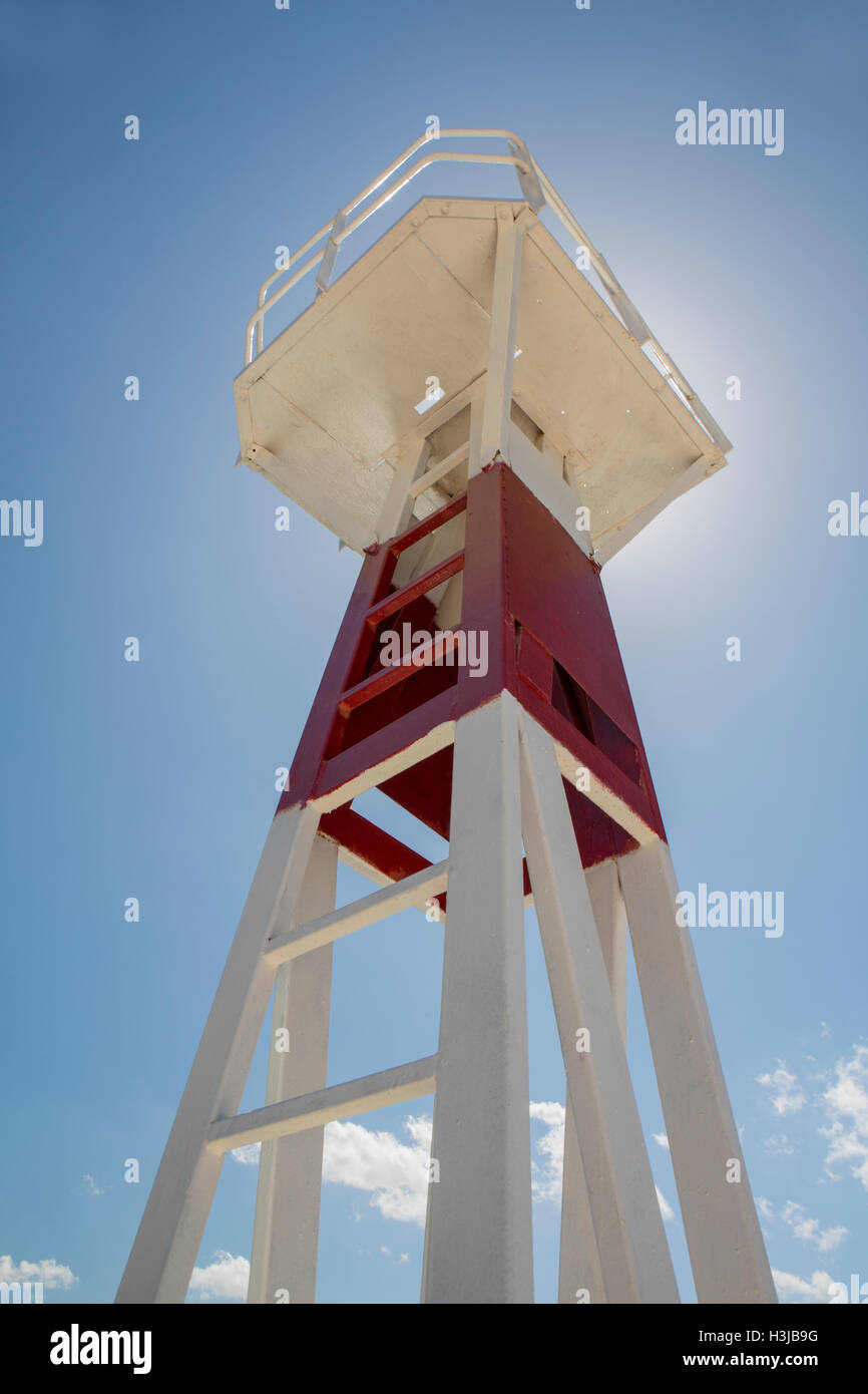 A watch tower in Sami Harbour. - Stock Image