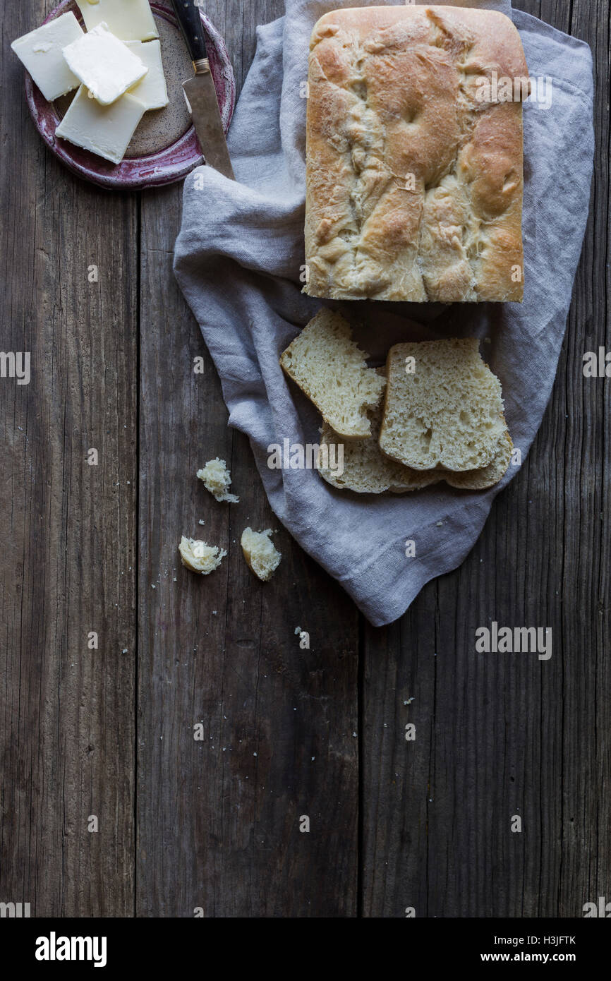 Home baked bread - Stock Image