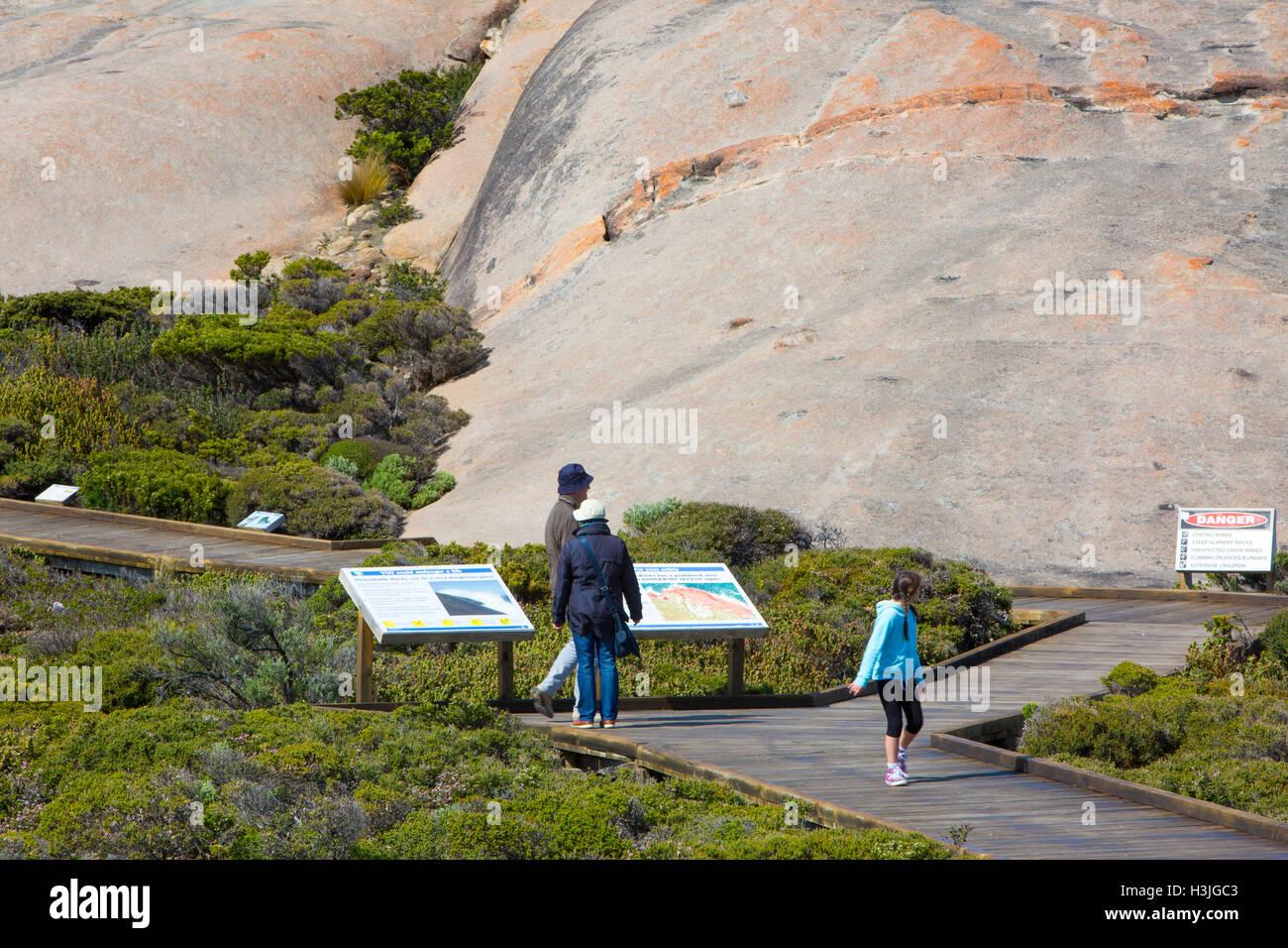 Remarable Rocks, formed through erosion, Flinders chase national park, Kangaroo island,South Australia - Stock Image