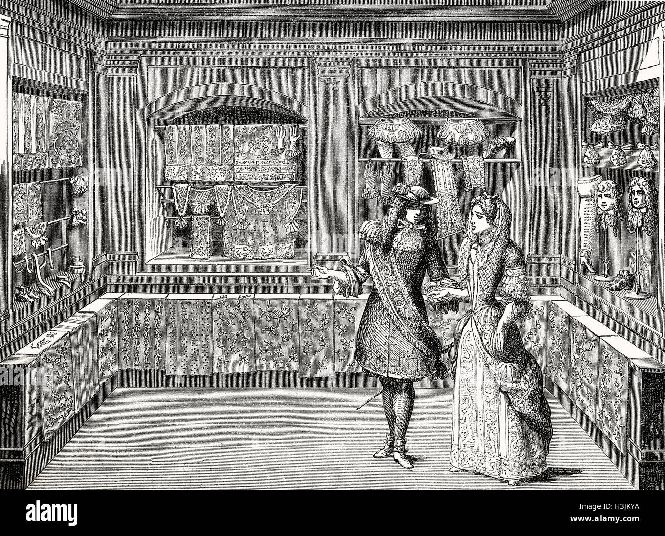 French Boutique, 17th century - Stock Image