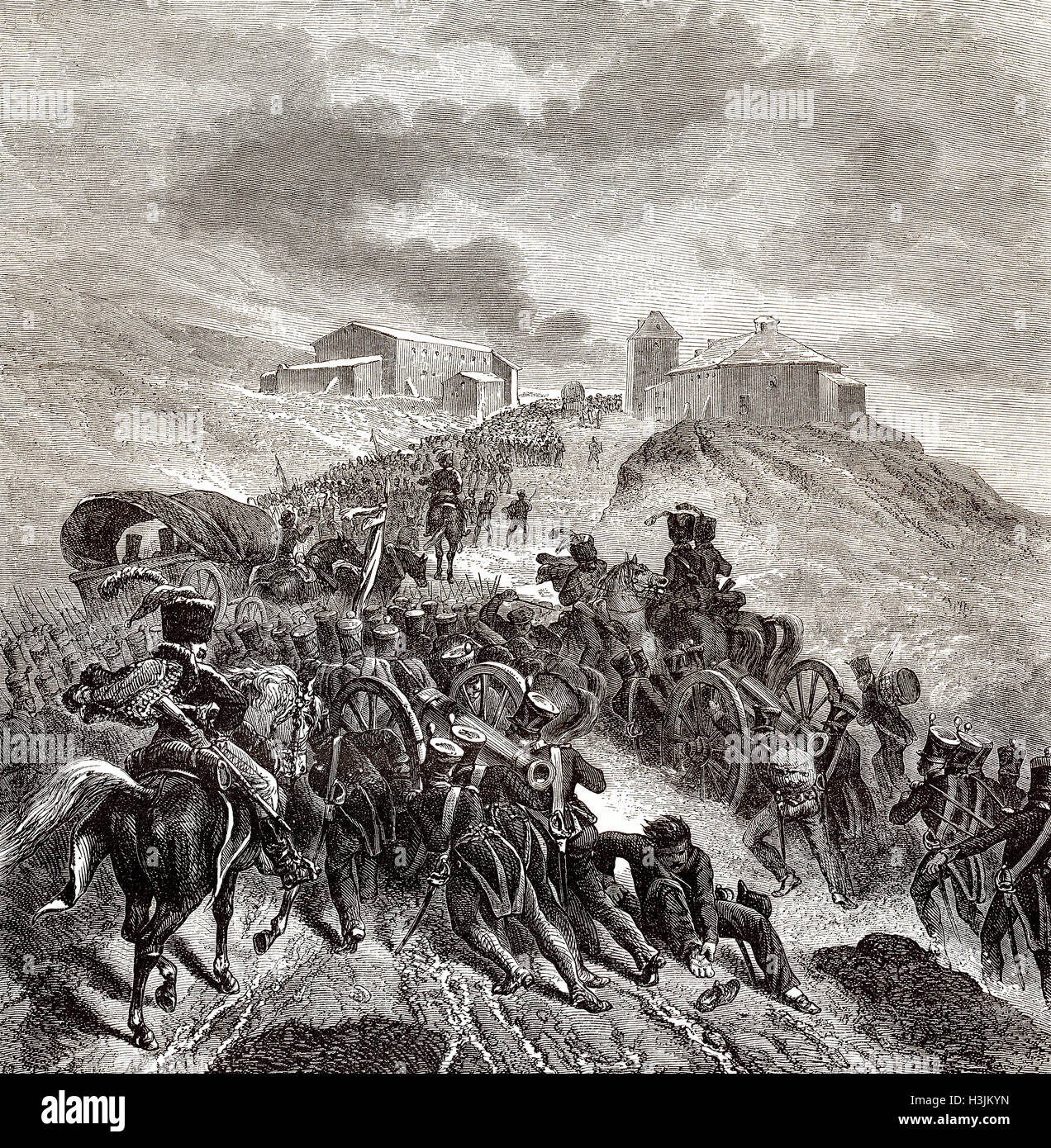 The Battle of Somosierra, November 30, 1808, Peninsular War - Stock Image