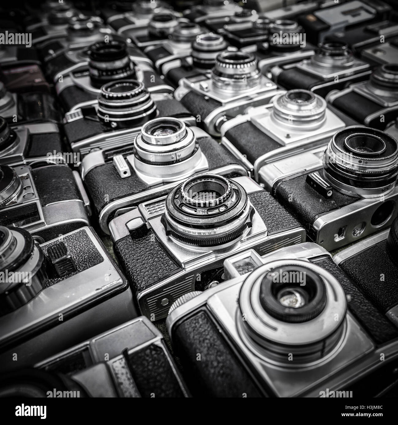 Old camera background Stock Photo