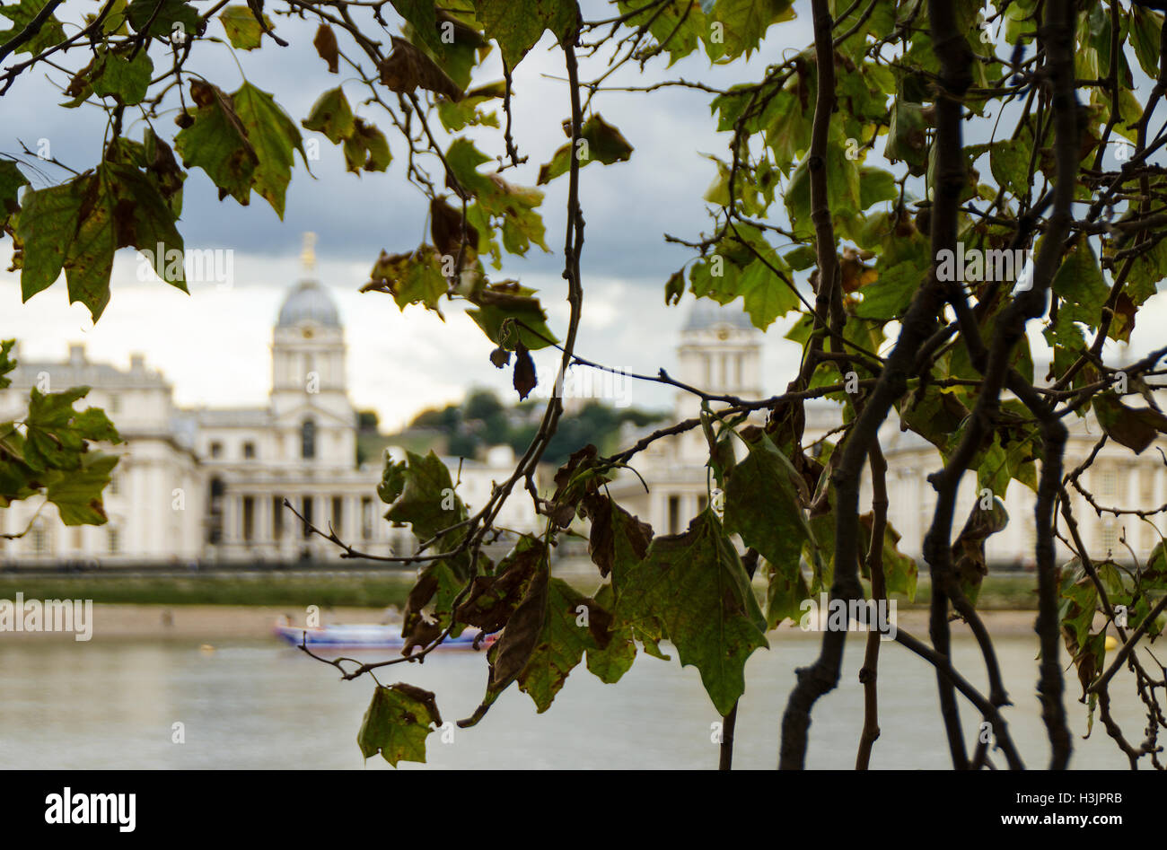 Royal Naval College, Greenwich, London - Stock Image