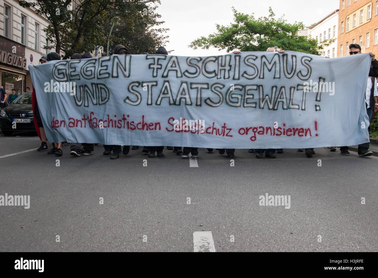 Anti-Fascist Demonstration. Berlin, Germany. Stock Photo