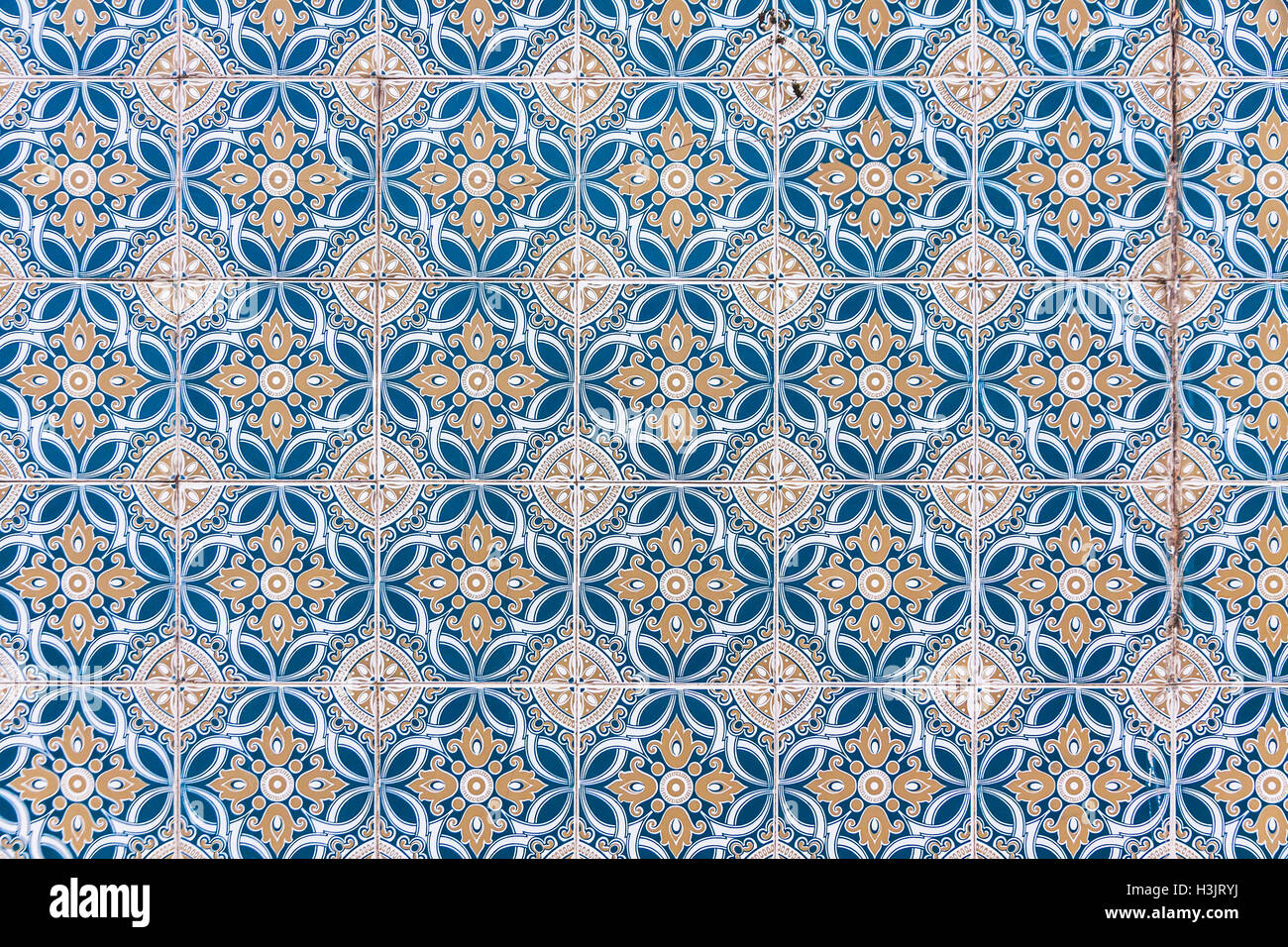 Typical Portuguese old ceramic wall tiles (Azulejos). Seamless Stock ...