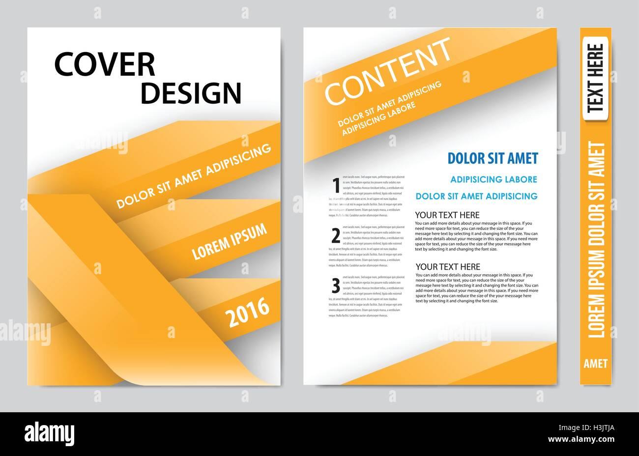 Cover Book Presentation Report Design Template Stock Vector Image Art Alamy