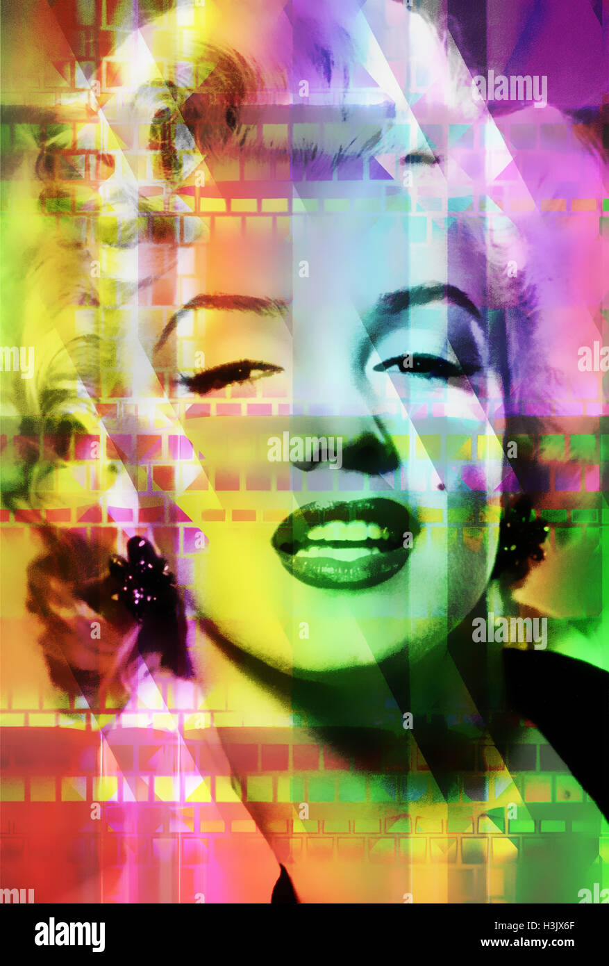 Marilyn Monroe pop art version - Stock Image
