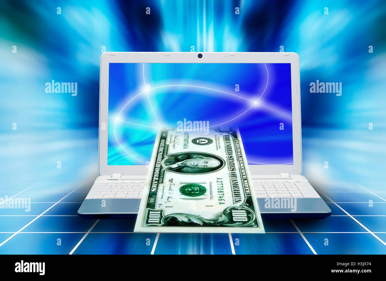online banking concept - Stock Image