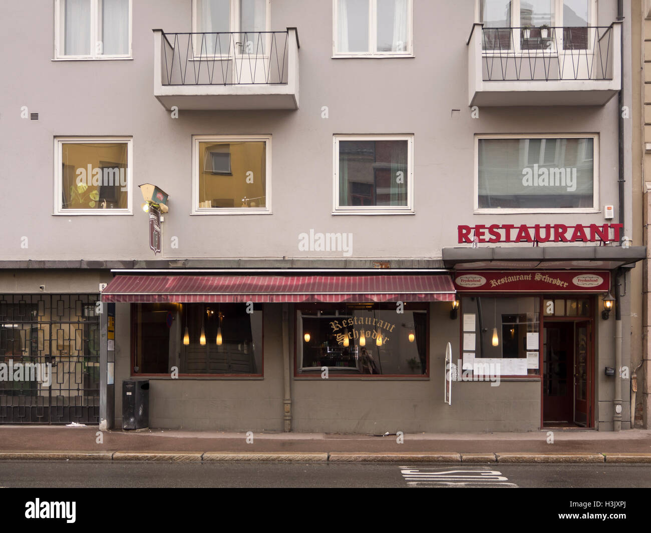 Restaurant Schrøder in Oslo traditional beer stop and favorite of the detective Harry Hole in Jon Nesbø - Stock Image