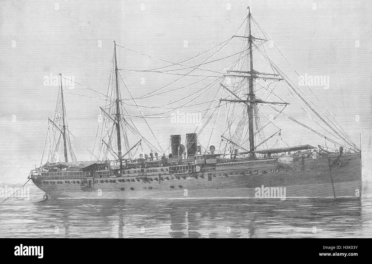 SHIPS Ship Portugal Brazil & River Plate line 1887. Illustrated London News Stock Photo